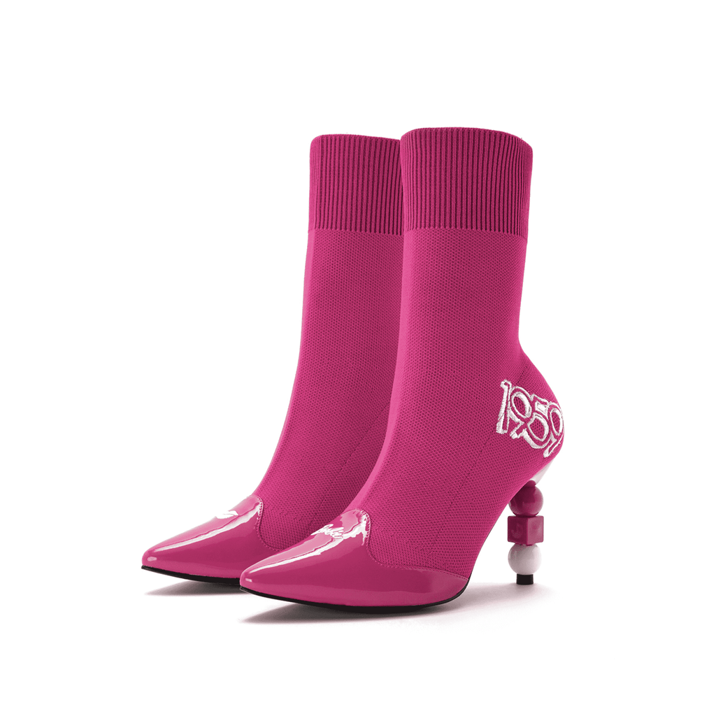 Barbie X House Of Avenues Ladies' Flyknit Heel Boot 5336 - House of Avenues - Designer Shoes Online