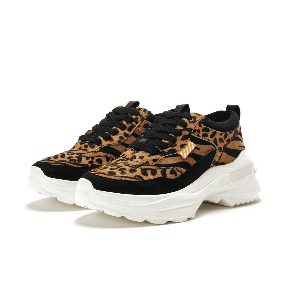 Ladies Leopard Platform Sneaker 5363 BRN - House of Avenues - Designer Shoes Online 香港女鞋網店