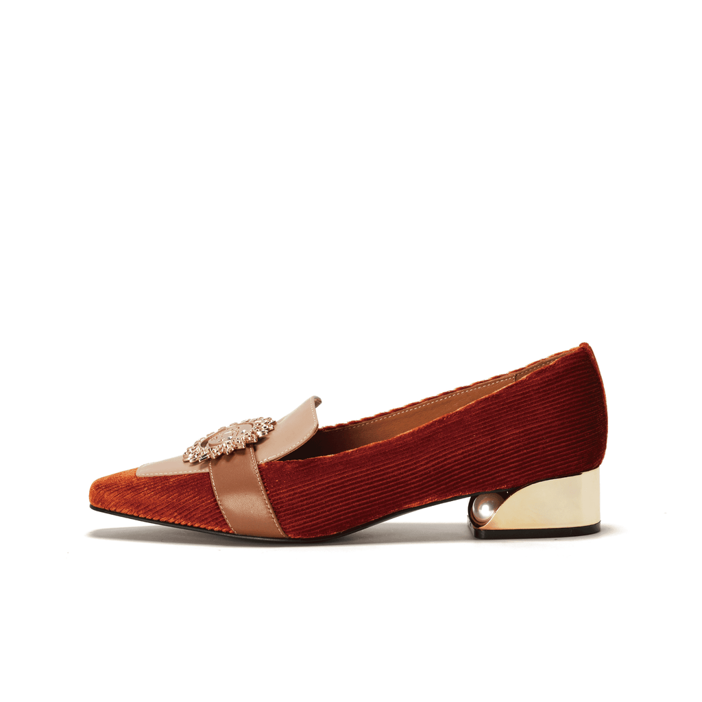 Ladies Retro Style Color Block Loafer 5372 Brown - House of Avenues - Designer Shoes | 香港 | 女鞋 House of Avenues