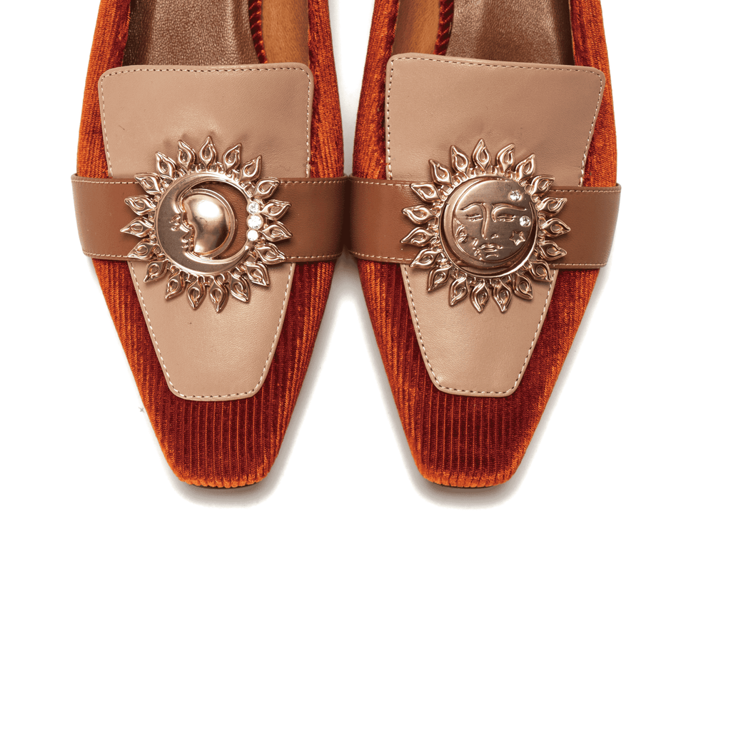 Live Within I Ladies' Retro Style Color Block Loafer 5372 Brown - House of Avenues - Designer Shoes Online