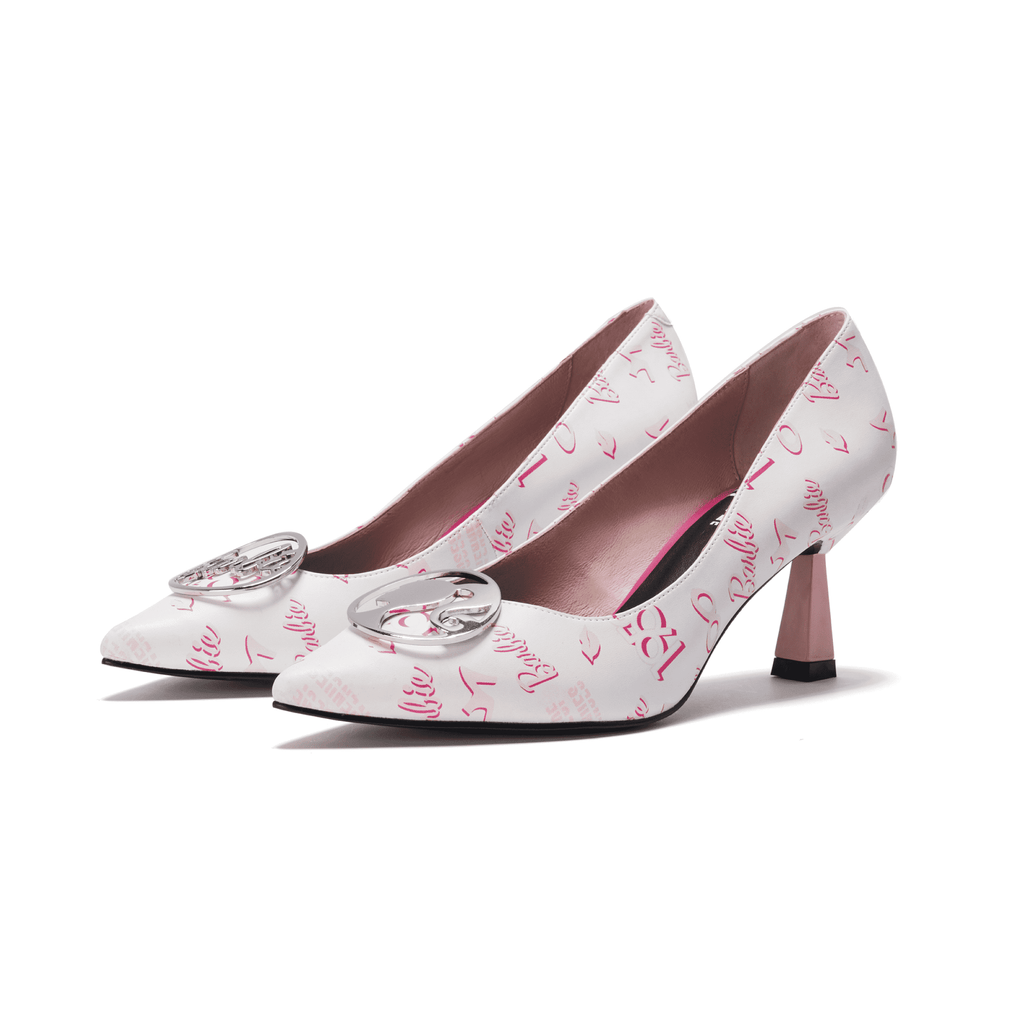 Barbie x House Of Avenues Ladies' Allover Barbie Spool Heel Pumps 5418 - House of Avenues - Designer Shoes Online