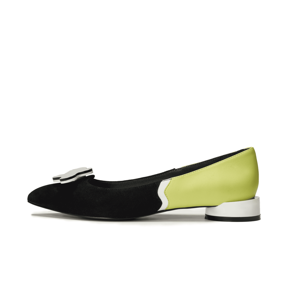 Ladies Color Block Flat Pumps 5450 Black - House of Avenues - Designer Shoes | 香港 | 女鞋 House of Avenues