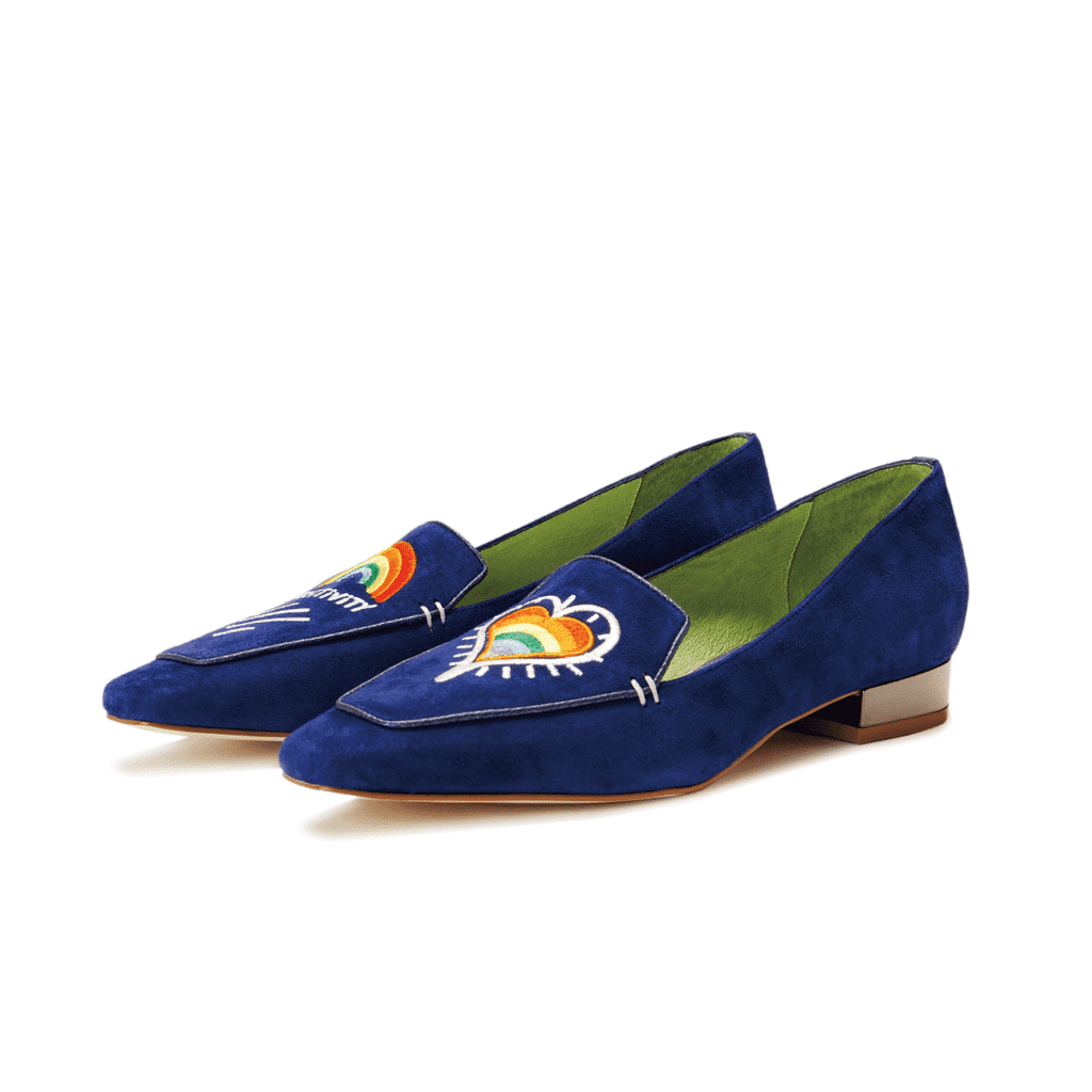 Love is Universal Ladies' Rainbow Embroidery Loafer 5507 - House of Avenues - Designer Shoes Online