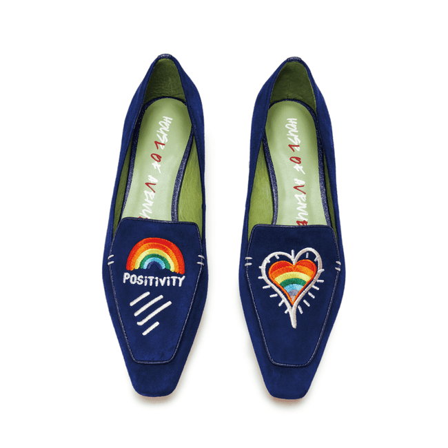"""Love is Universal"" Rainbow Positivity Loafer 5507 - House of Avenues - Designer Shoes Online"