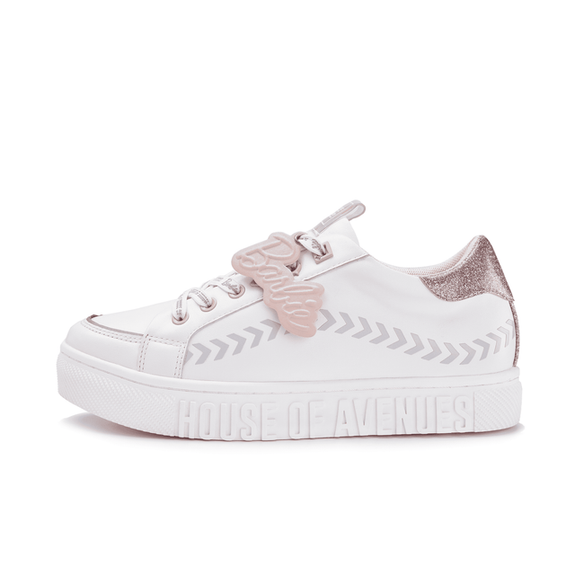 Barbie Women's Sneaker Lace Up White Shoes 5527 - House of Avenues - Designer Shoes Online