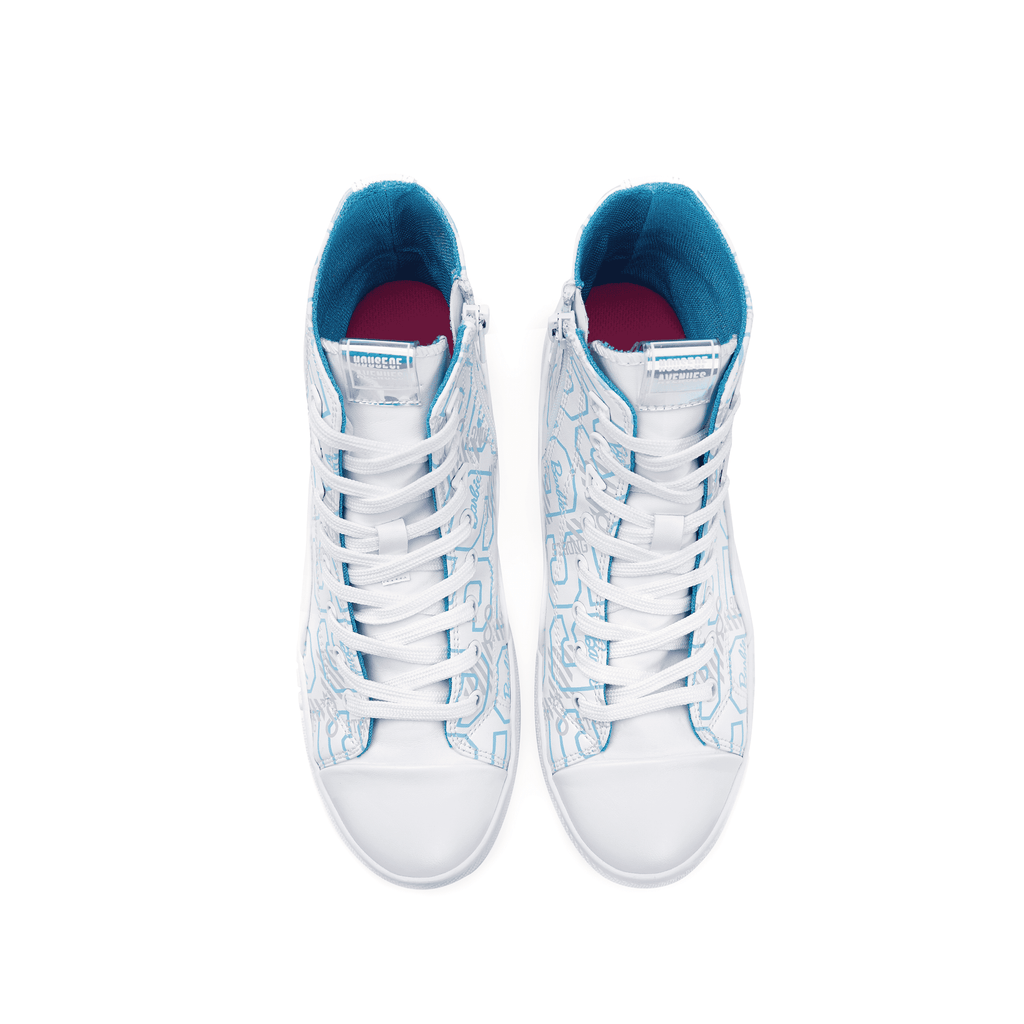 Barbie x House Of Avenues Ladies High Top Sneaker 5529 White - House of Avenues - Designer Shoes Online 香港女鞋網店