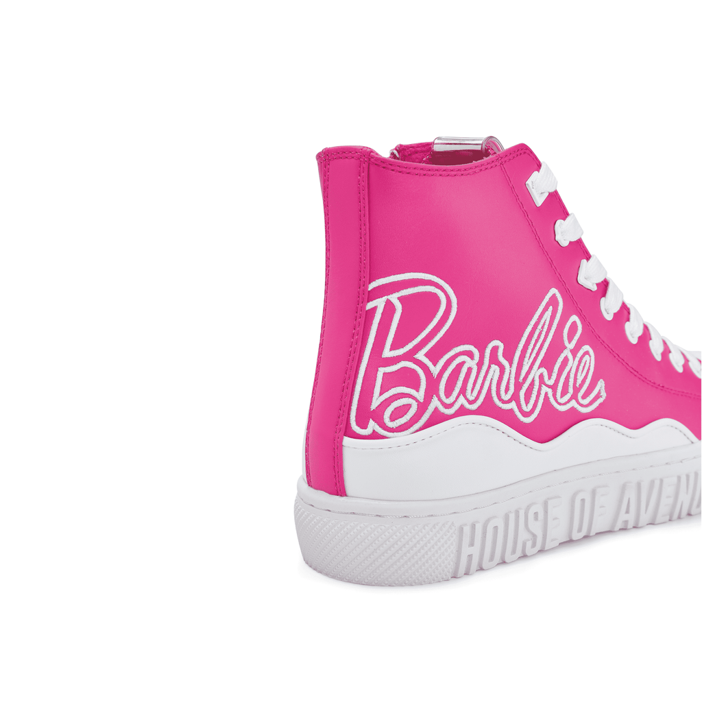 Barbie x House Of Avenues Ladies High Top Sneaker 5529 Pink - House of Avenues - Designer Shoes Online 香港女鞋網店
