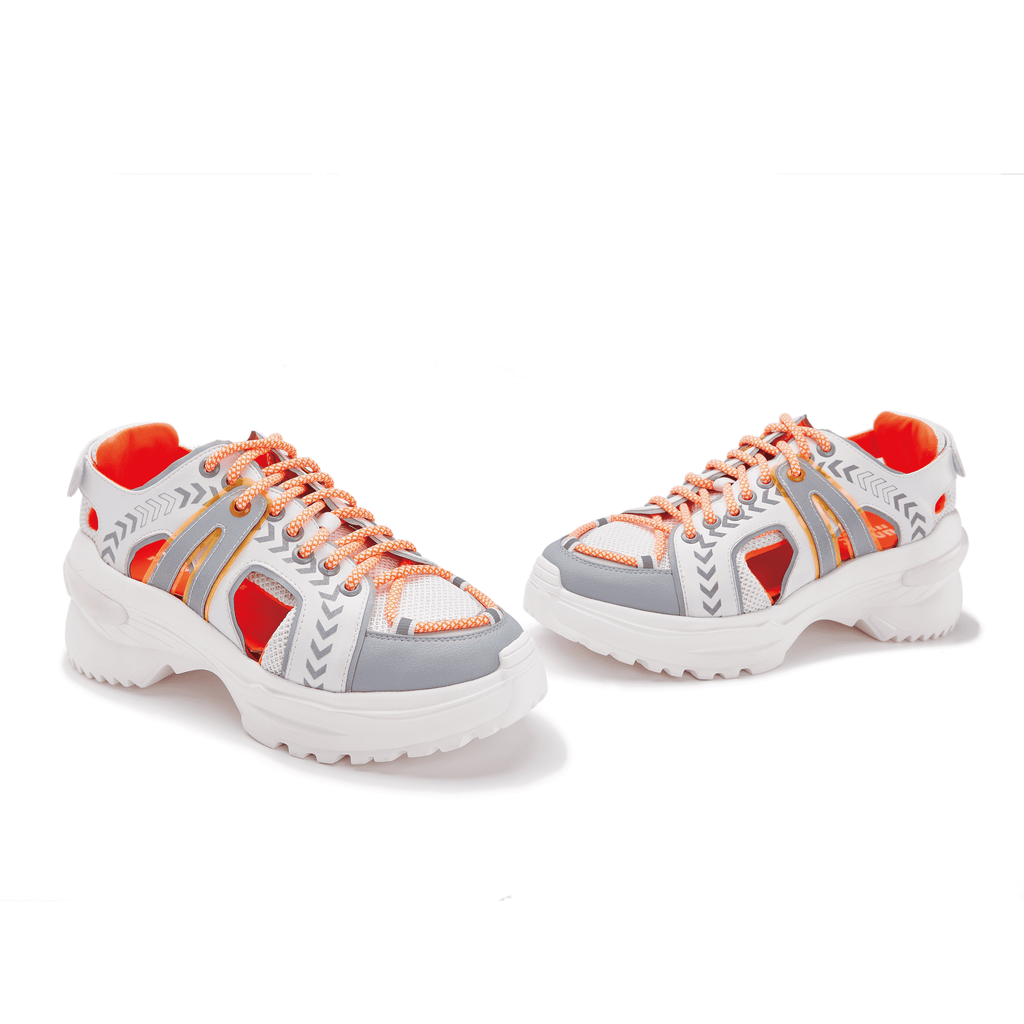 Ladies Neon Cut Out Sneaker 5535 Orange - House of Avenues - Designer Shoes Online 香港女鞋網店