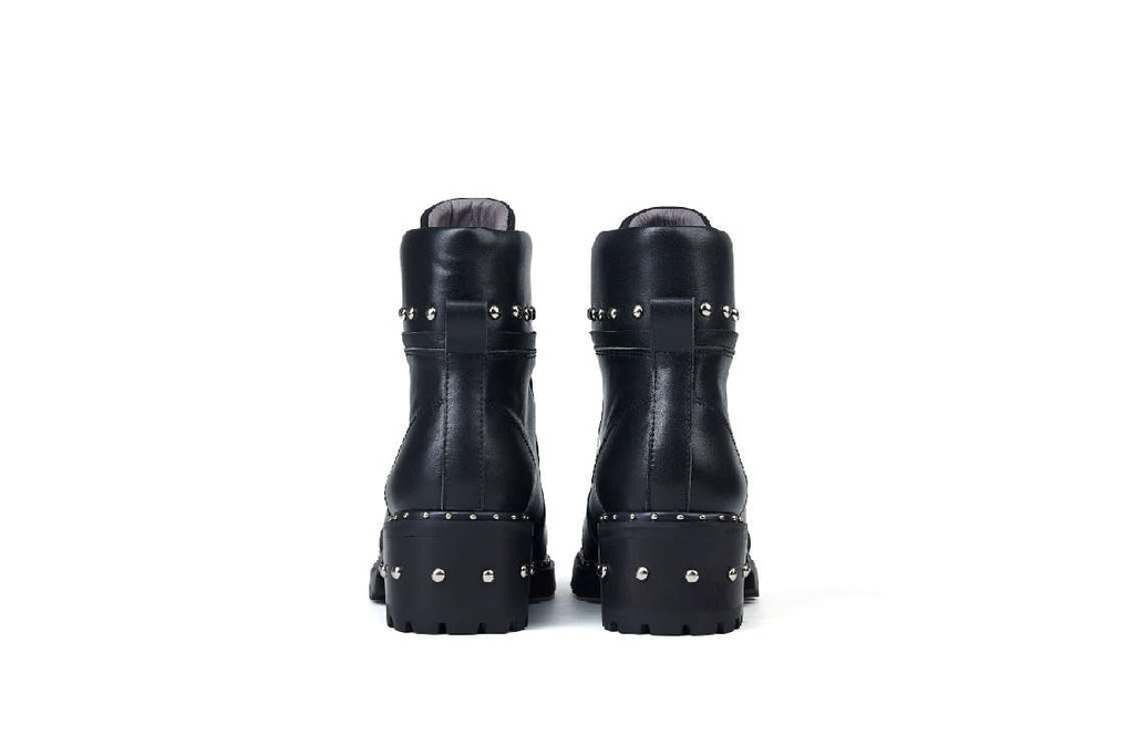 CITY SURVIVOR FRONT ZIPPED STUD BOOTIE 5128 - House of Avenues - Designer Shoes Online