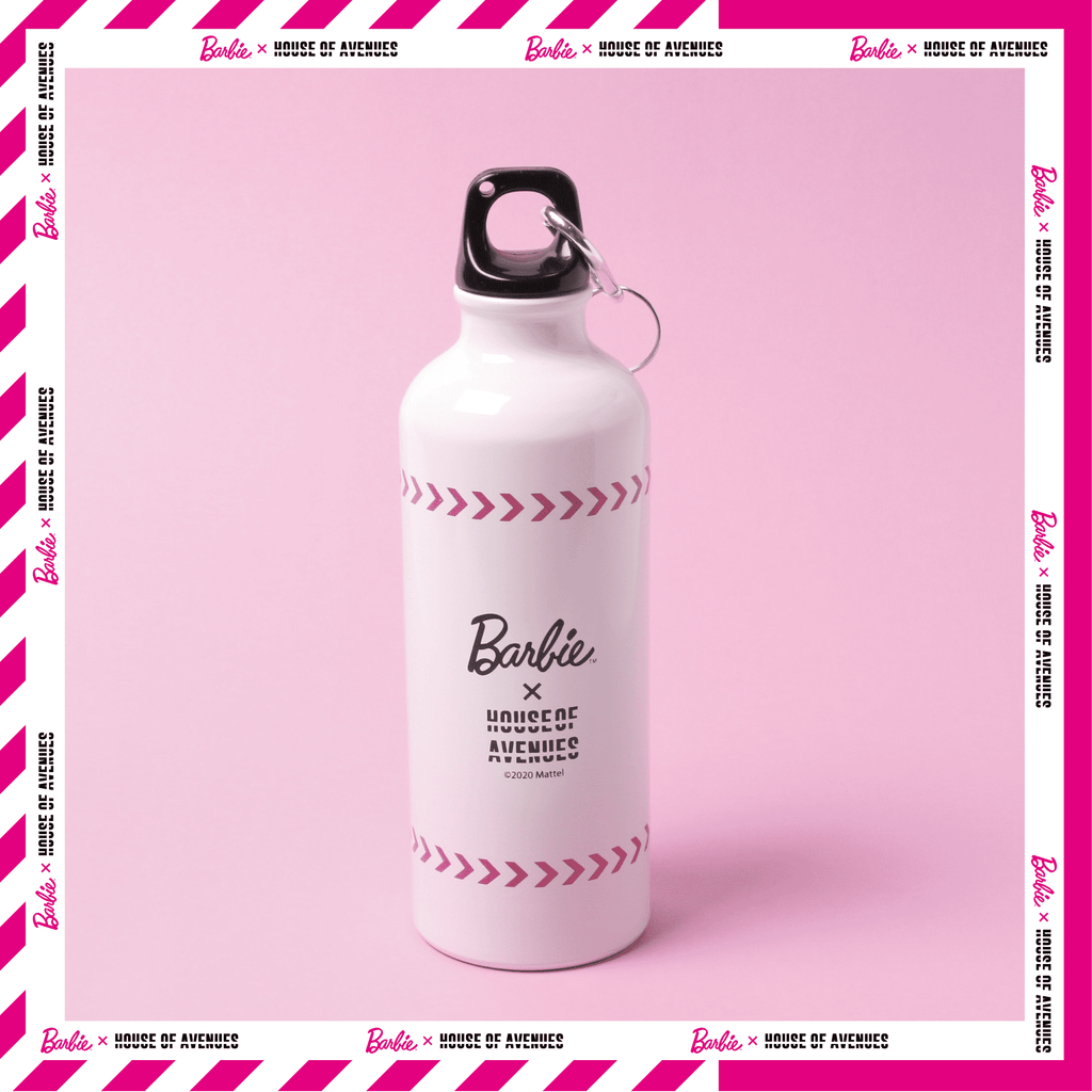 Aluminium BARBIE Water Bottle, White (Premium Gift) - House of Avenues - Designer Shoes Online