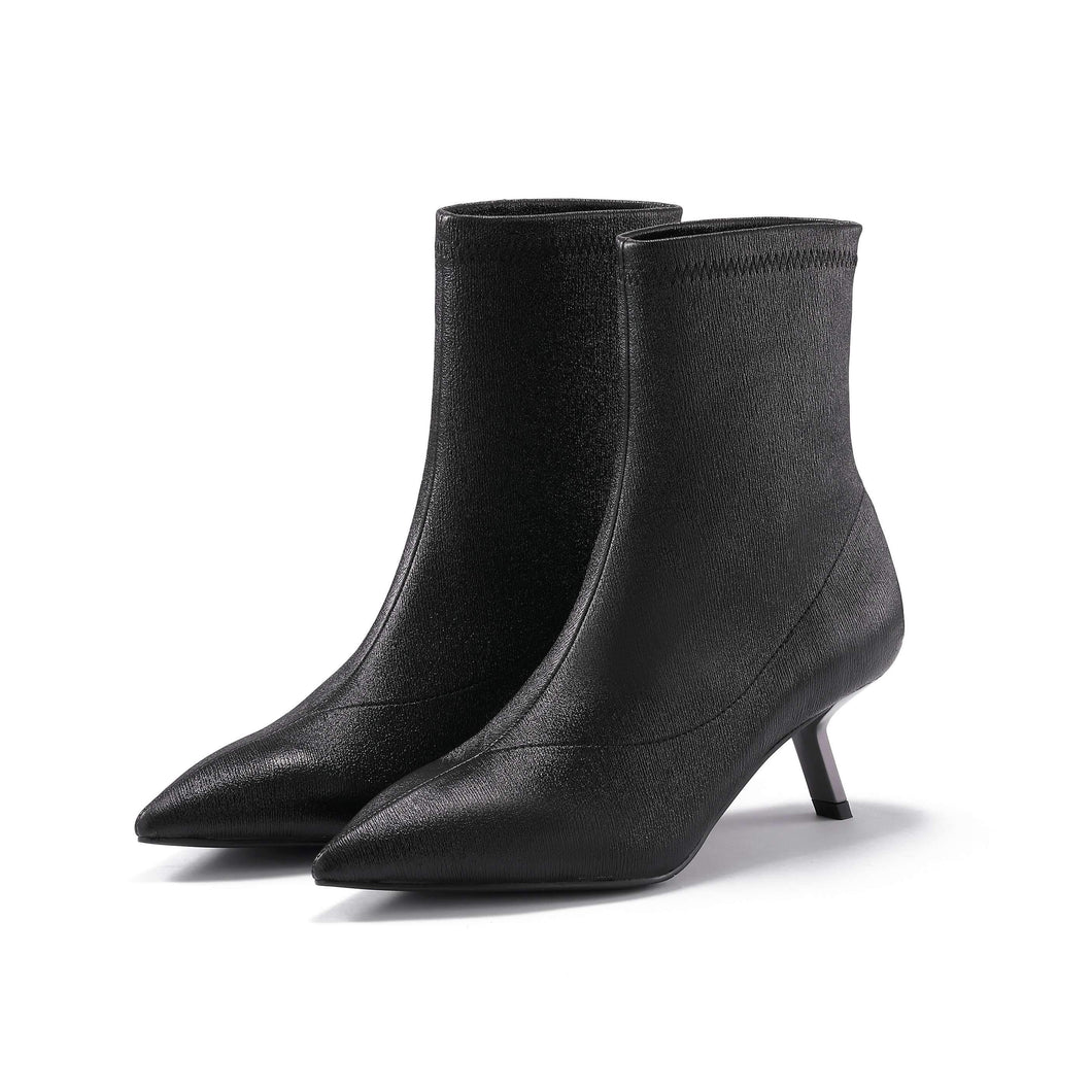 STRETCH LEATHER BOOTIE