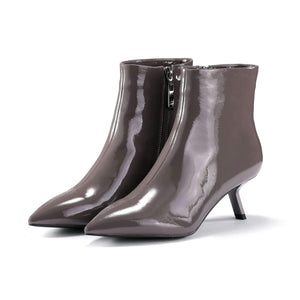 PATENT LEATHER BOOTIE