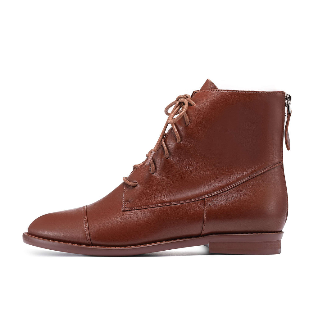 COMFORT LACE UP BOOTIE 5190 (Brown) - House of Avenues - Designer Shoes Online