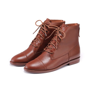 COMFORT LACE UP BOOTIE 5190 (Brown)