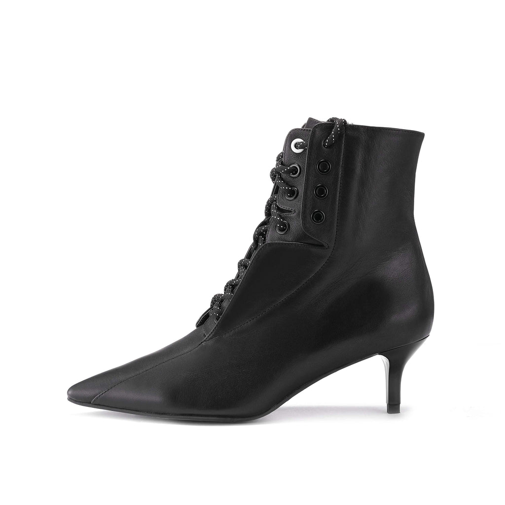 Retro Lace Up Bootie 5164 - House of Avenues - Designer Shoes Online