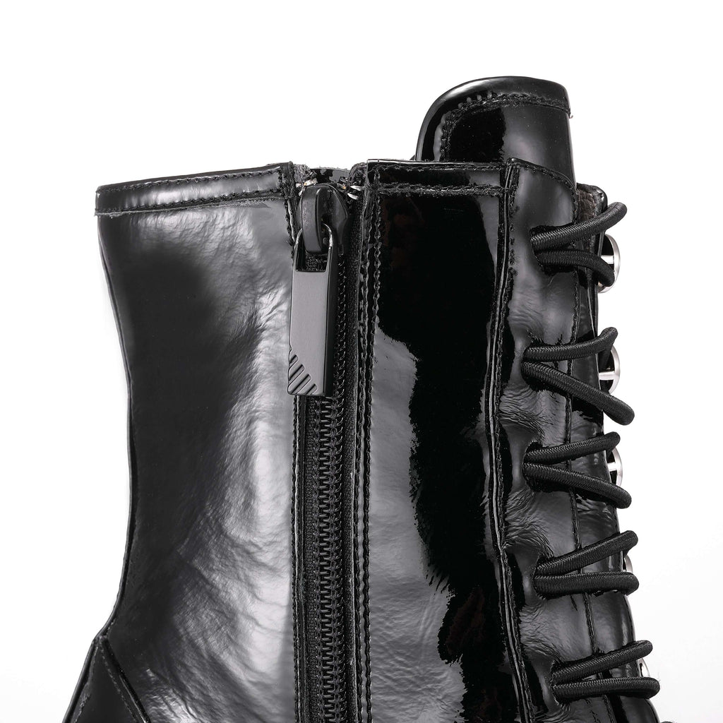 Ladies Patent Lace Up  Boots 5165 Black - House of Avenues - Designer Shoes | 香港 | 女鞋 House of Avenues