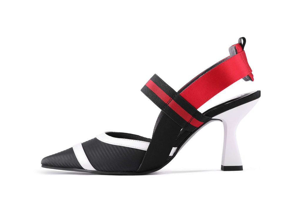 Ladies Color Block Mary Jane Slingback Pump 4462 - House of Avenues - Designer Shoes | 香港 | 女鞋 House of Avenues