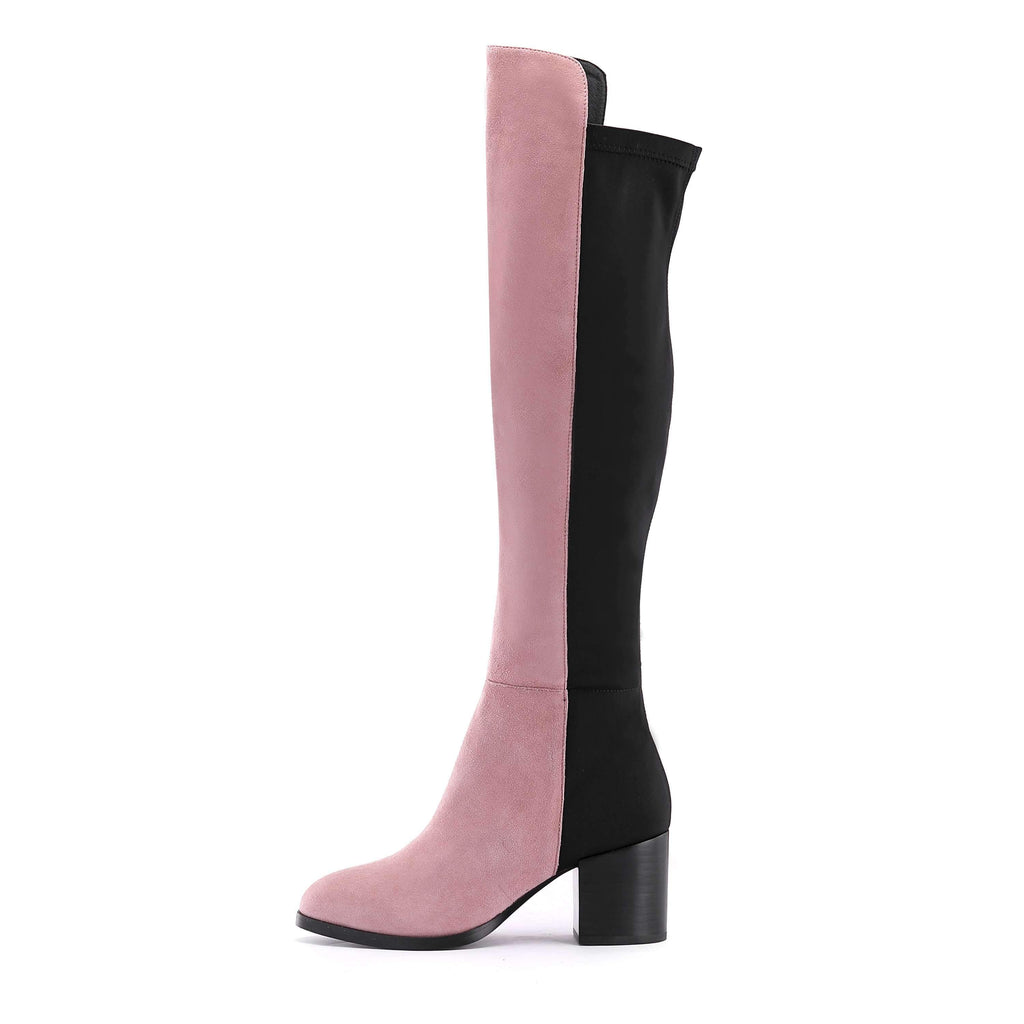 Ladies Stretch Overknee High Heel Boot 3635 Pink - House of Avenues - Designer Shoes | 香港 | 女鞋 House of Avenues