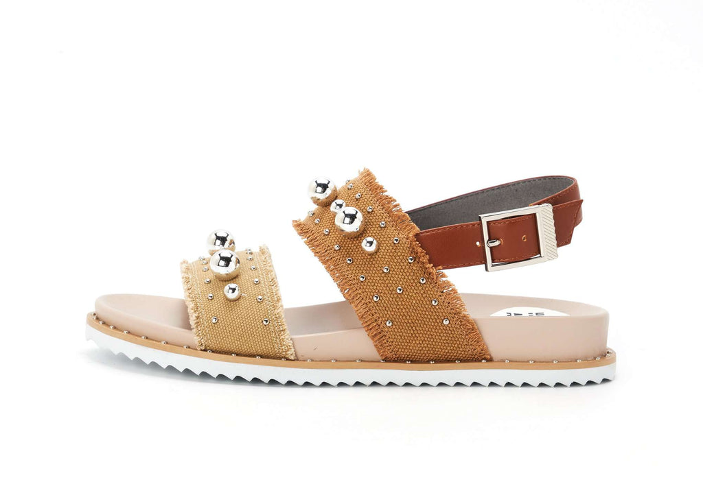 Ladies Bohemian Style Studs Sandal 5311 Brown - House of Avenues - Designer Shoes Online 香港女鞋網店