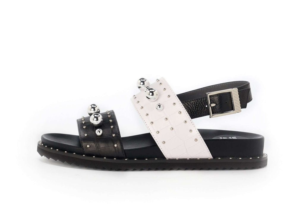 Ladies Bohemian Style Studs Sandal 5311 Black - House of Avenues - Designer Shoes Online 香港女鞋網店