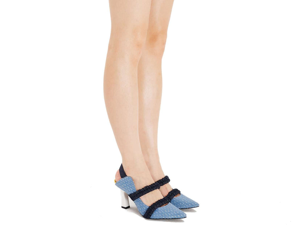 ZIZTAR X HOA ELASTIC BAND PUMP 5239 (Light Blue) - House of Avenues - Designer Shoes Online