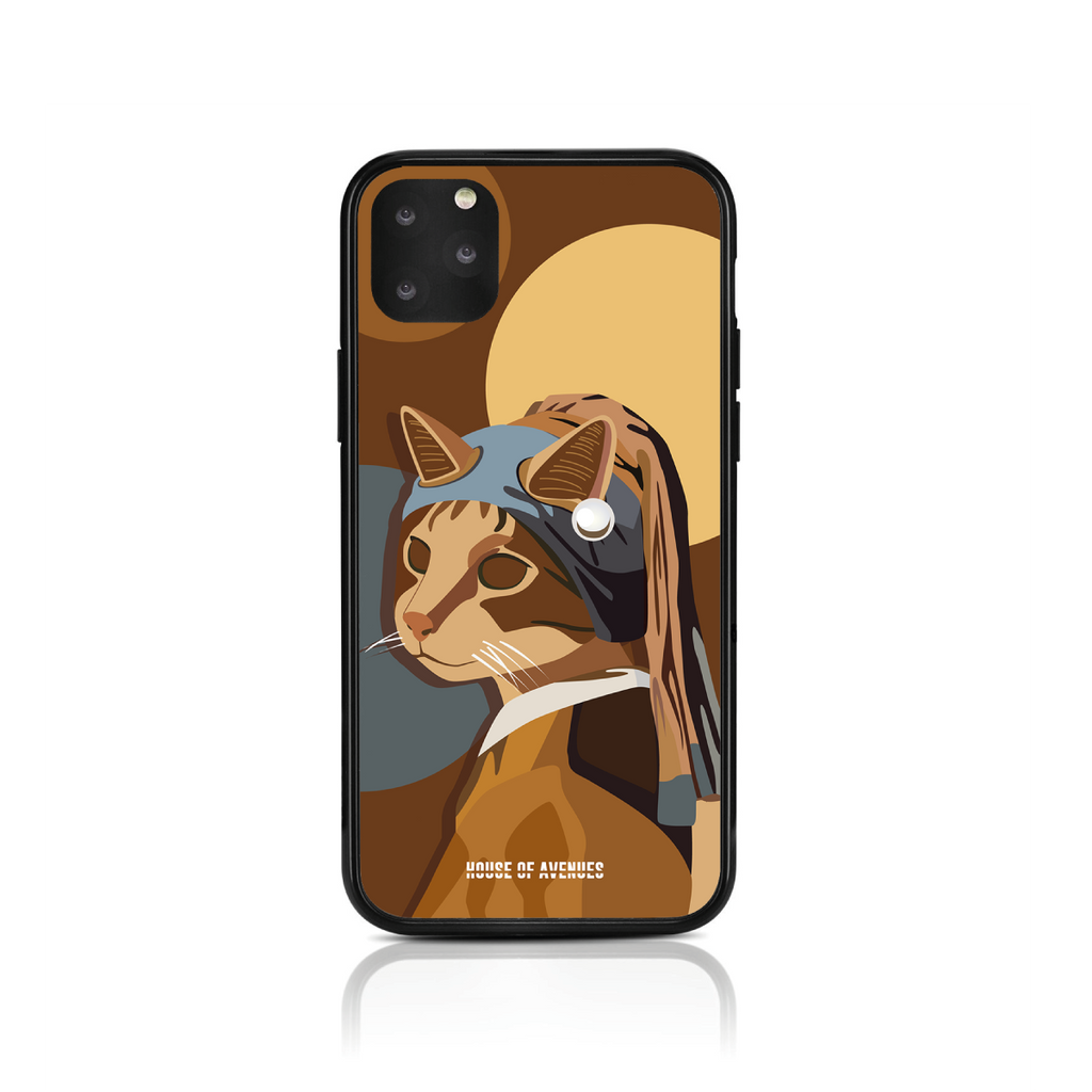Original Design Phone Case - Cat with a Pearl Earring - Style D - House of Avenues - Designer Shoes | 香港 | 女鞋 House of Avenues