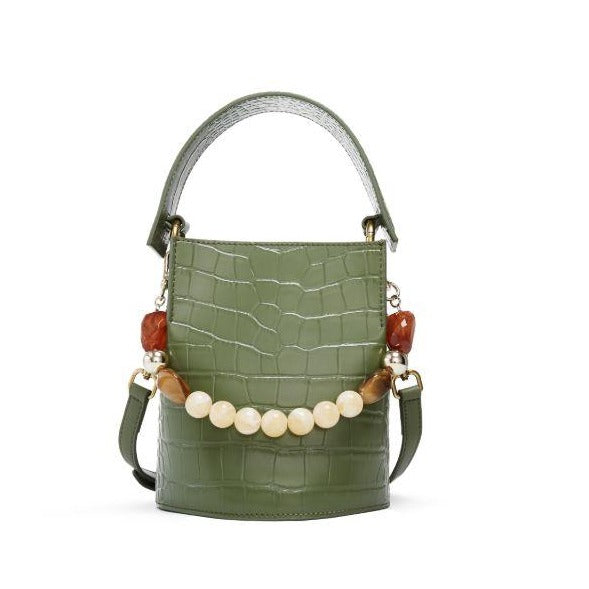 CROCO EMBOSSED BUCKET SHOULDER BAG 5592 - House of Avenues - Designer Shoes Online