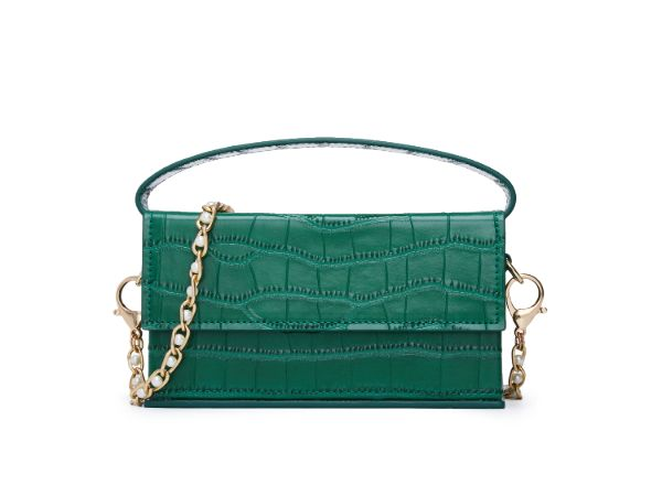 CROCO EMBOSSED CHAIN SHOULDER BAG 5593 - House of Avenues - Designer Shoes Online