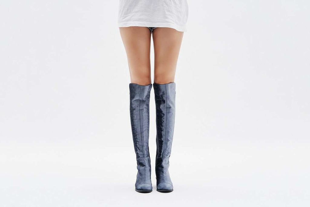 Suede Stretchable Overknee Boot 3216 - House of Avenues - Designer Shoes Online
