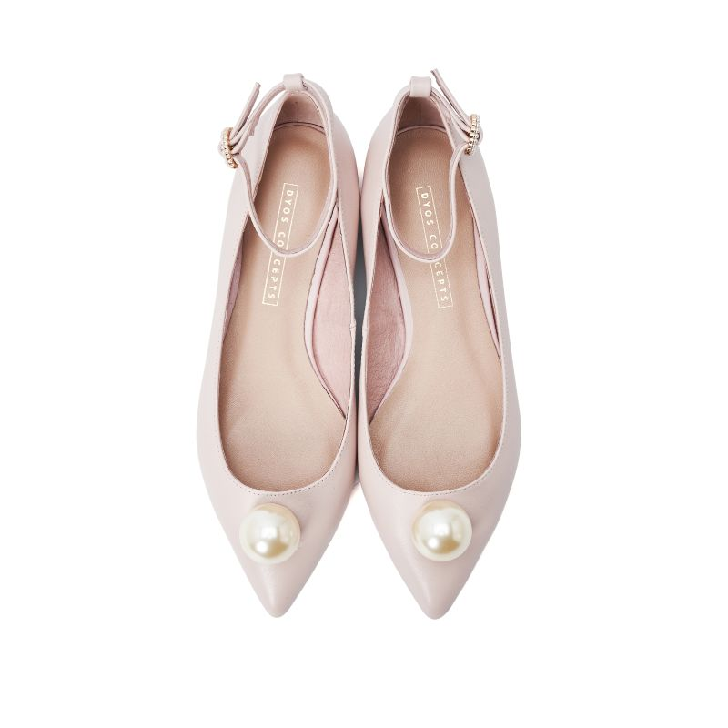 Ladies Ankle Strap Flat Pumps 5289 Pink - House of Avenues - Designer Shoes | 香港 | 女鞋 House of Avenues