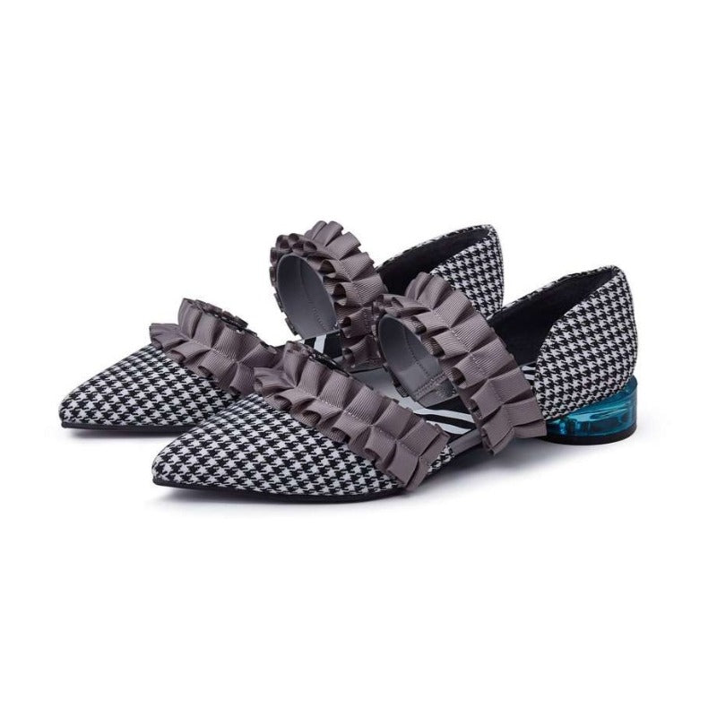 Ladies Ruffle d'orsay flat 5100 - House of Avenues - Designer Shoes Online 香港女鞋網店