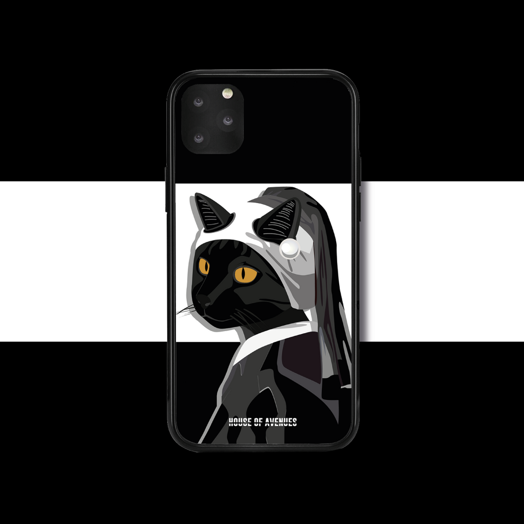 Original Design Phone Case - Cat with a Pearl Earring - Style F - House of Avenues - Designer Shoes | 香港 | 女鞋 House of Avenues