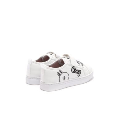 Linefriends Brown x HOA Kids White Sneaker 5009 - House of Avenues - Designer Shoes Online