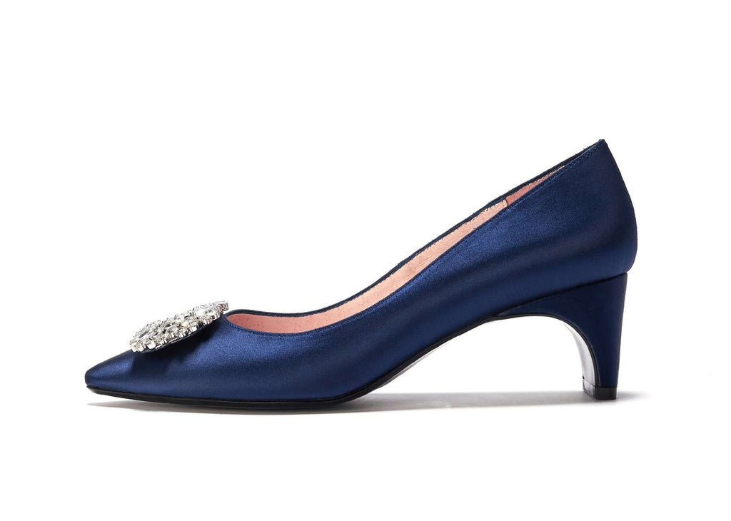 AVERY crystal party pumps 101014 (Navy) - House of Avenues - Designer Shoes Online