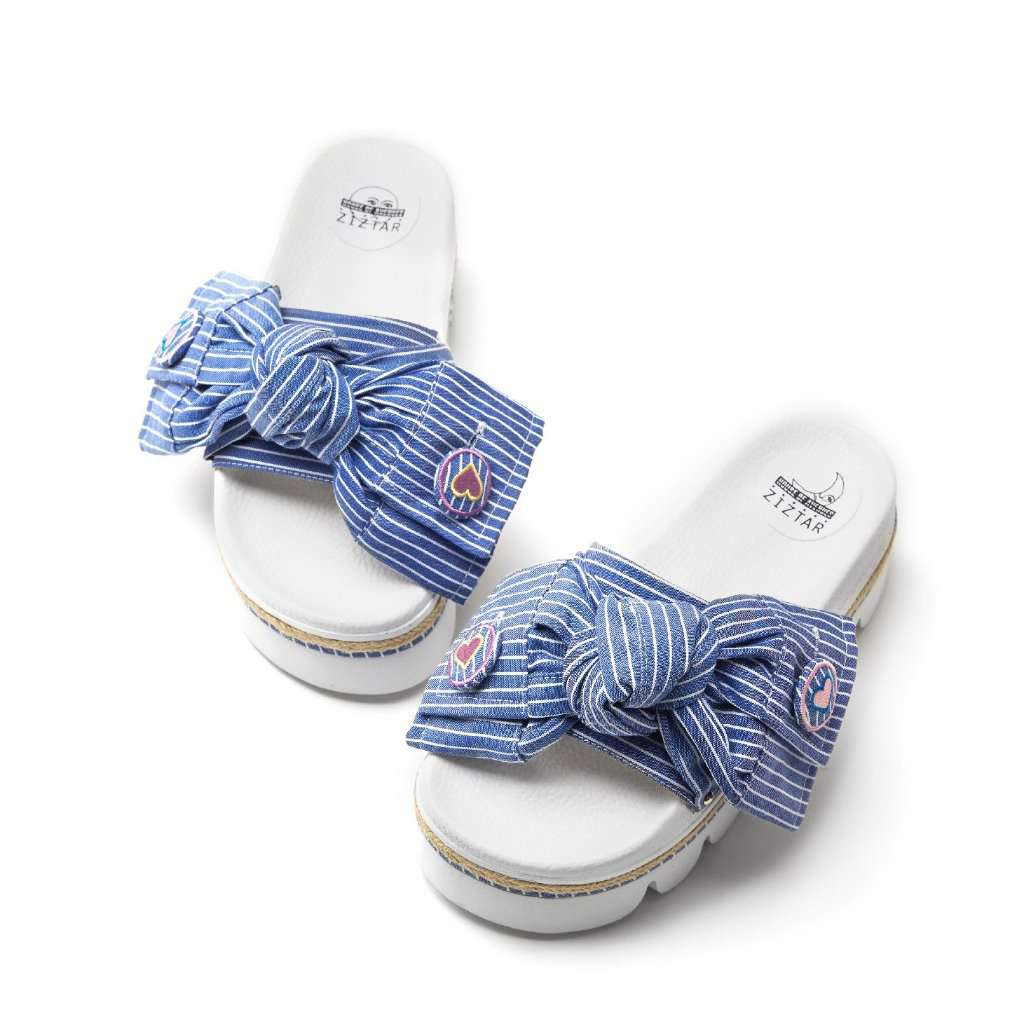 Ladies Knotted Bow Beach Sandal 5314 - House of Avenues - Designer Shoes Online 香港女鞋網店