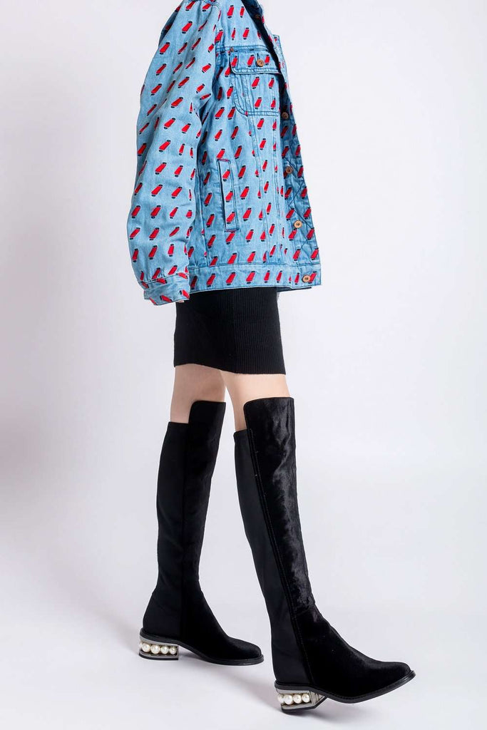 Ladies Stretchable Overknee Low Heel Boot s 4305 - House of Avenues - Designer Shoes | 香港 | 女鞋 House of Avenues