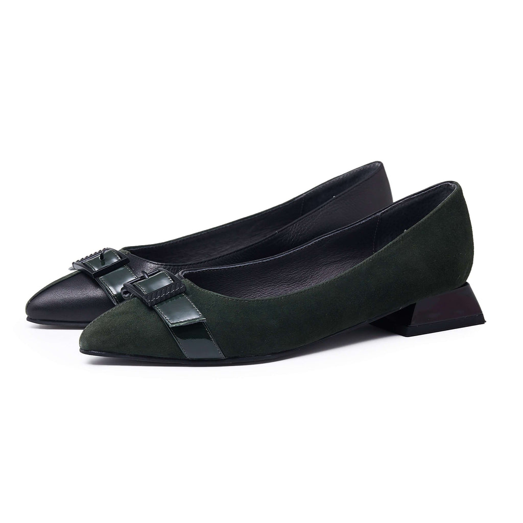 STREET SMART Color Block Flat 5137 Green - House of Avenues - Designer Shoes | 香港 | 女鞋 House of Avenues