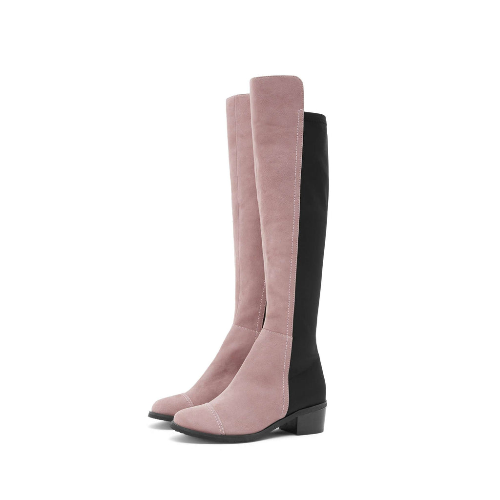 Suede Stretchable Overknee Low Heel Boot 3216 - House of Avenues - Designer Shoes | 香港 | 女鞋 House of Avenues