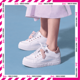 Barbie Women's Sneaker Lace Up White Shoes 5527 バービーxHOA 第2弾レースアップ・スニーカー