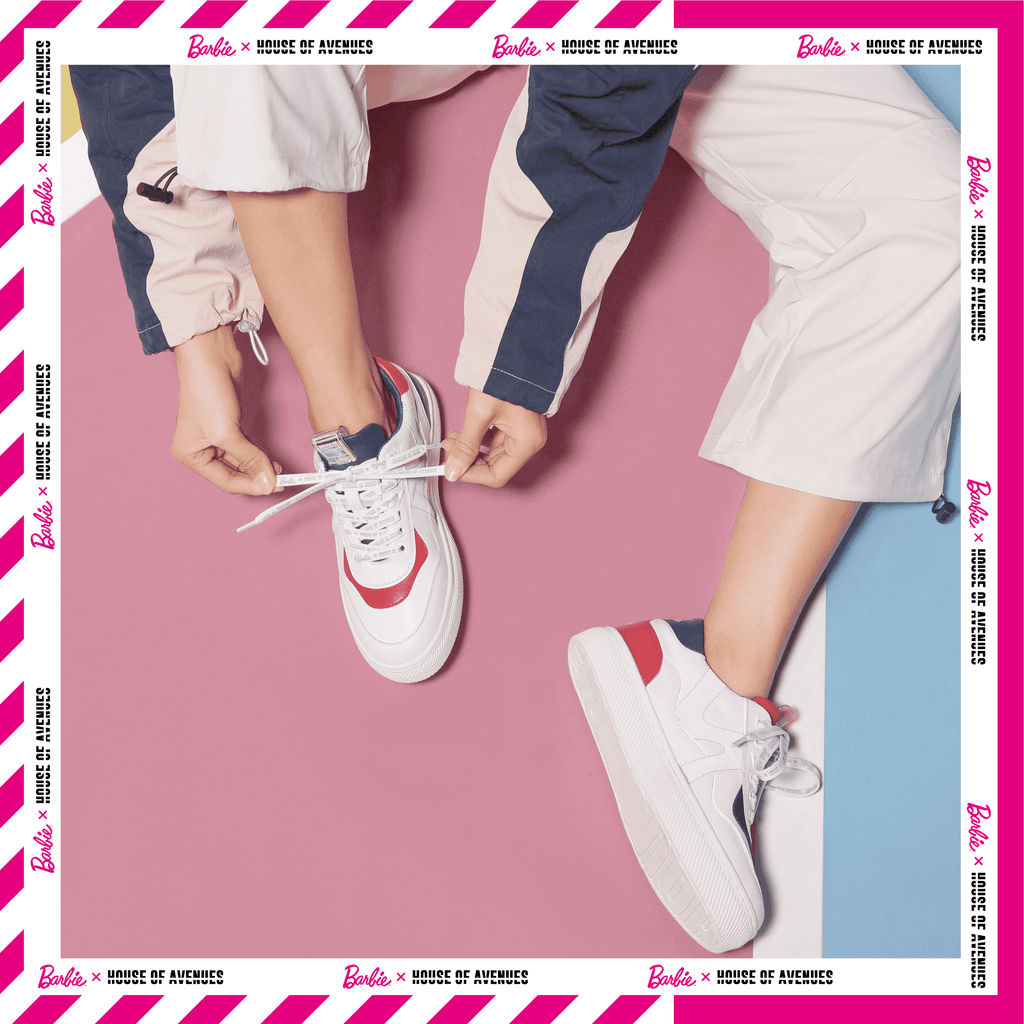 Barbie x House Of Avenues Ladies Lace Up Flat Sneaker 5528 Red - House of Avenues - Designer Shoes Online 香港女鞋網店