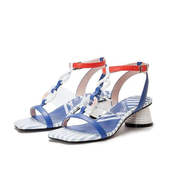 Everyone needs a fantasy Marine Heel Sandal 5447 - House of Avenues - Designer Shoes Online