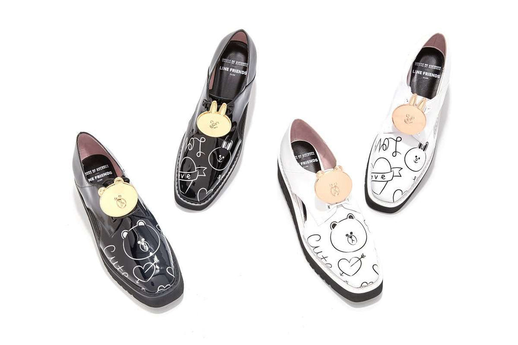 Line Friends x HOA Plaftform Oxford 4473 - House of Avenues - Designer Shoes Online