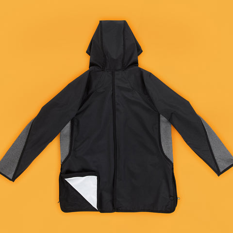 BYBORRE hooded jacket a-jacket ss19 the hybrid edition black back