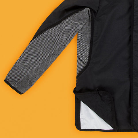 BYBORRE hooded jacket a-jacket ss19 the hybrid edition black detail