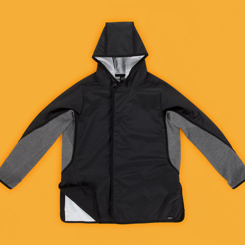 BYBORRE hooded jacket a-jacket ss19 the hybrid edition black front