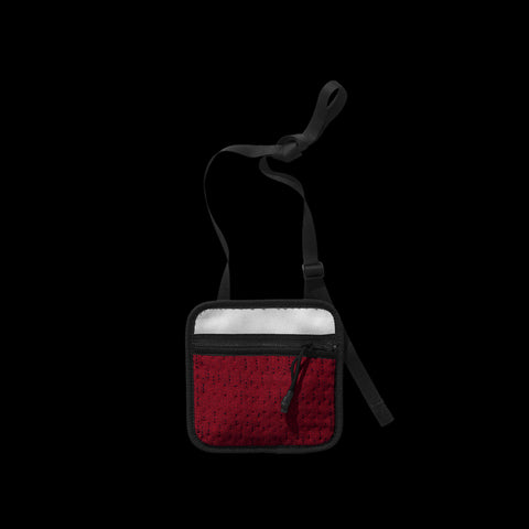 BYBORRE pouch aw19 the layered edition deep red front