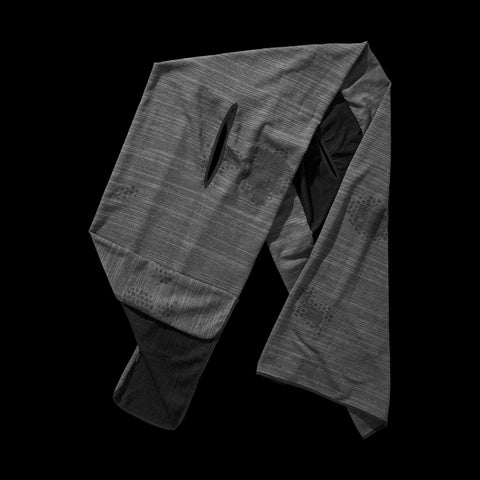 BYBORRE wrap scarf aw19 the layered edition graphite