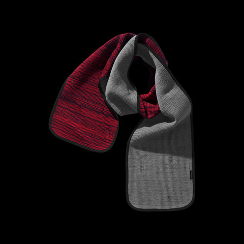 BYBORRE scarf biasbinded aw19 the layered edition graphite deep red