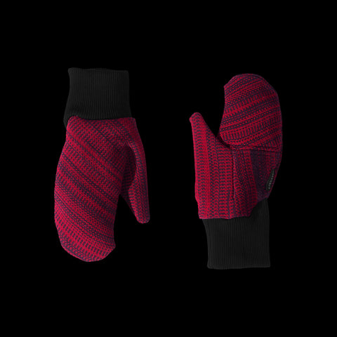 BYBORRE mitten aw19 the layered edition deep red