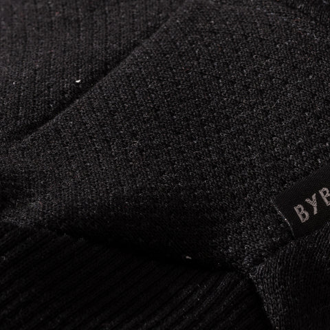 BYBORRE mitten aw19 the layered edition soot black detail